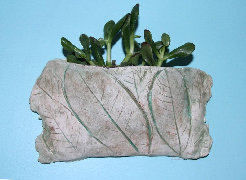 succulent pot, Plant Pocket Pot Planter leaf pot plant pot Indoor or Outdoor Planter small plant planter Wall Planter Leaf Planter
