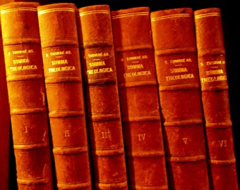 Summa Theologica of St. Thomas Aquinas --Complete in Six Volumes --In the Original Latin --Angelic Doctor --Order of Preachers --Theology