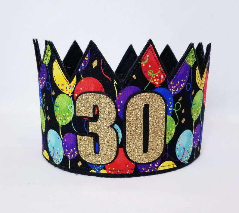 30th Birthday Hat Crown Gold