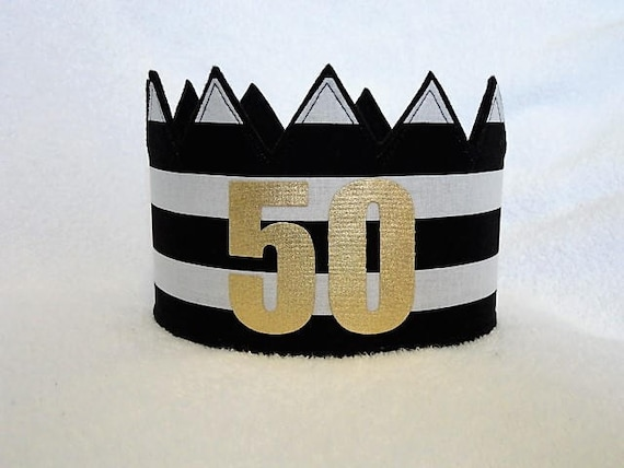 50th Birthday Crown Hat Gold