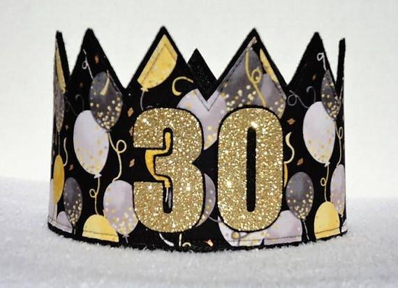 30th Birthday Crown Hat Gold