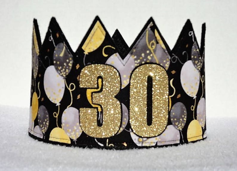 30th Birthday Crown Hat Gold
