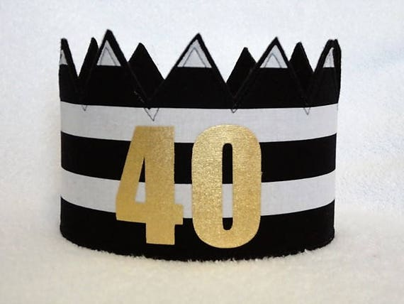 40th Birthday Crown Hat Gold