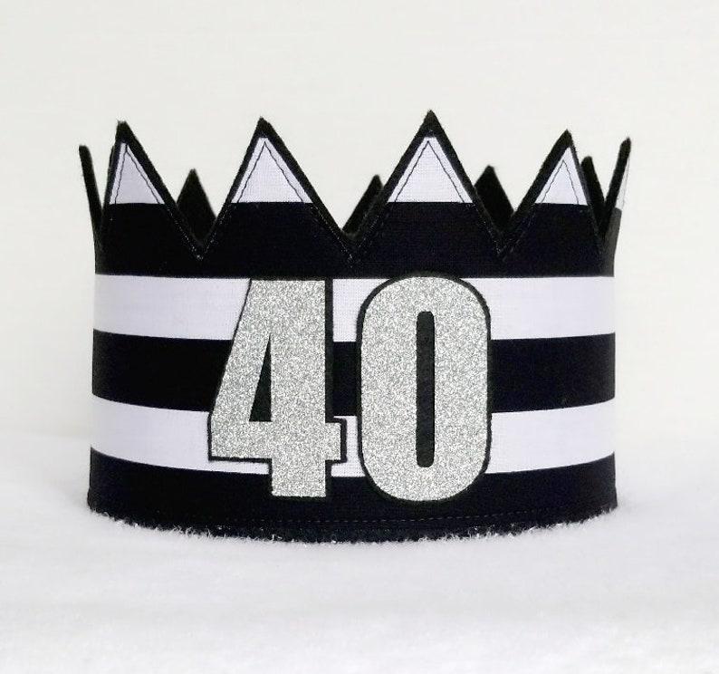 Adult Birthday Birthday Party Hat Silver 40th Crown 40th Birthday Crown Gold Birthday Crown 40th Birthday Adult Crown Adult Party Hat