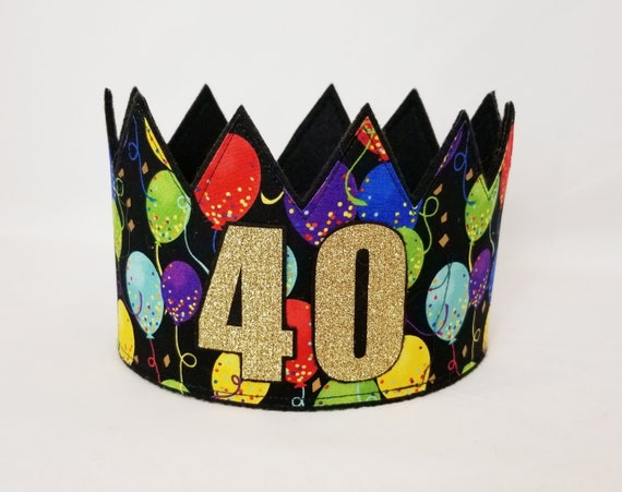 40th Birthday Crown Gold Adult