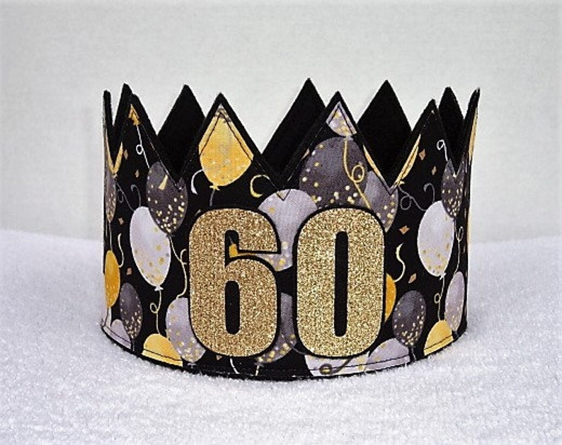 60th Birthday Crown Hat Gold