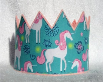 Unicorn Crown, Unicorn Birthday Crown, Birthday Crown, Felt Birthday Crown, Unicorn Kids Crown, Unicorn Birthday Party, Unicorn Birthday Hat
