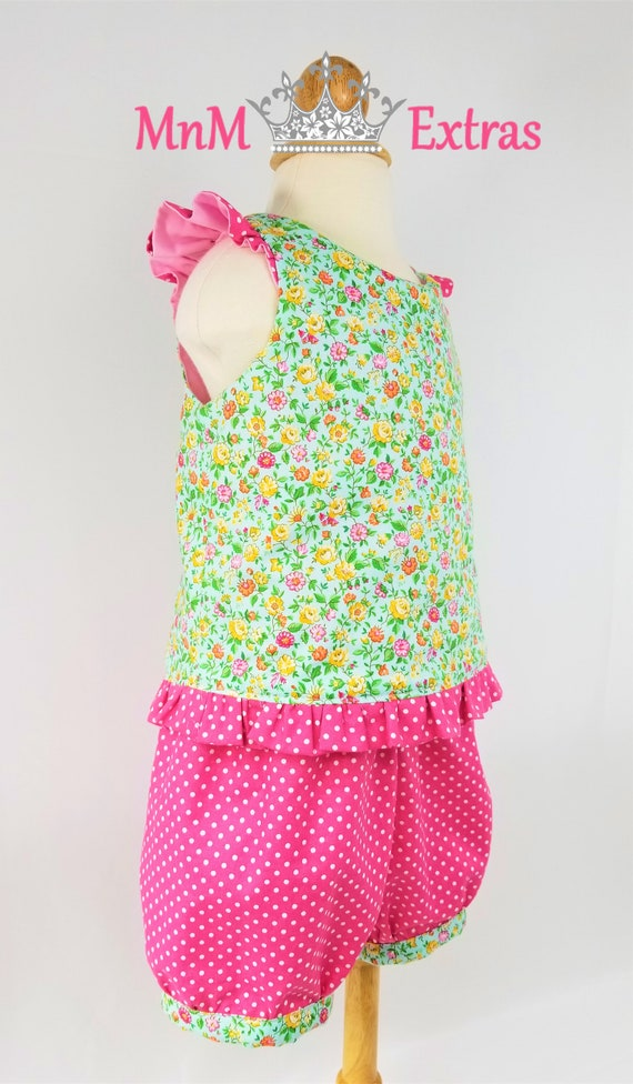 eeb89b44e163 Girls Easter Outfit Girls Floral Outfit Girls Short Set