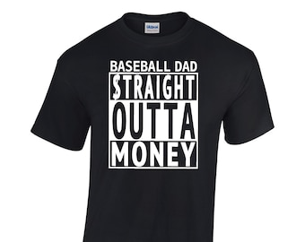 742b42be8b9 Volleyball Dad Straight Outta Money Shirt Volleyball Dad