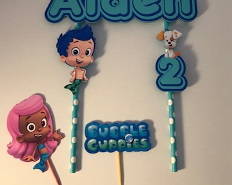 Personalized Bubble Guppies Cake Topper