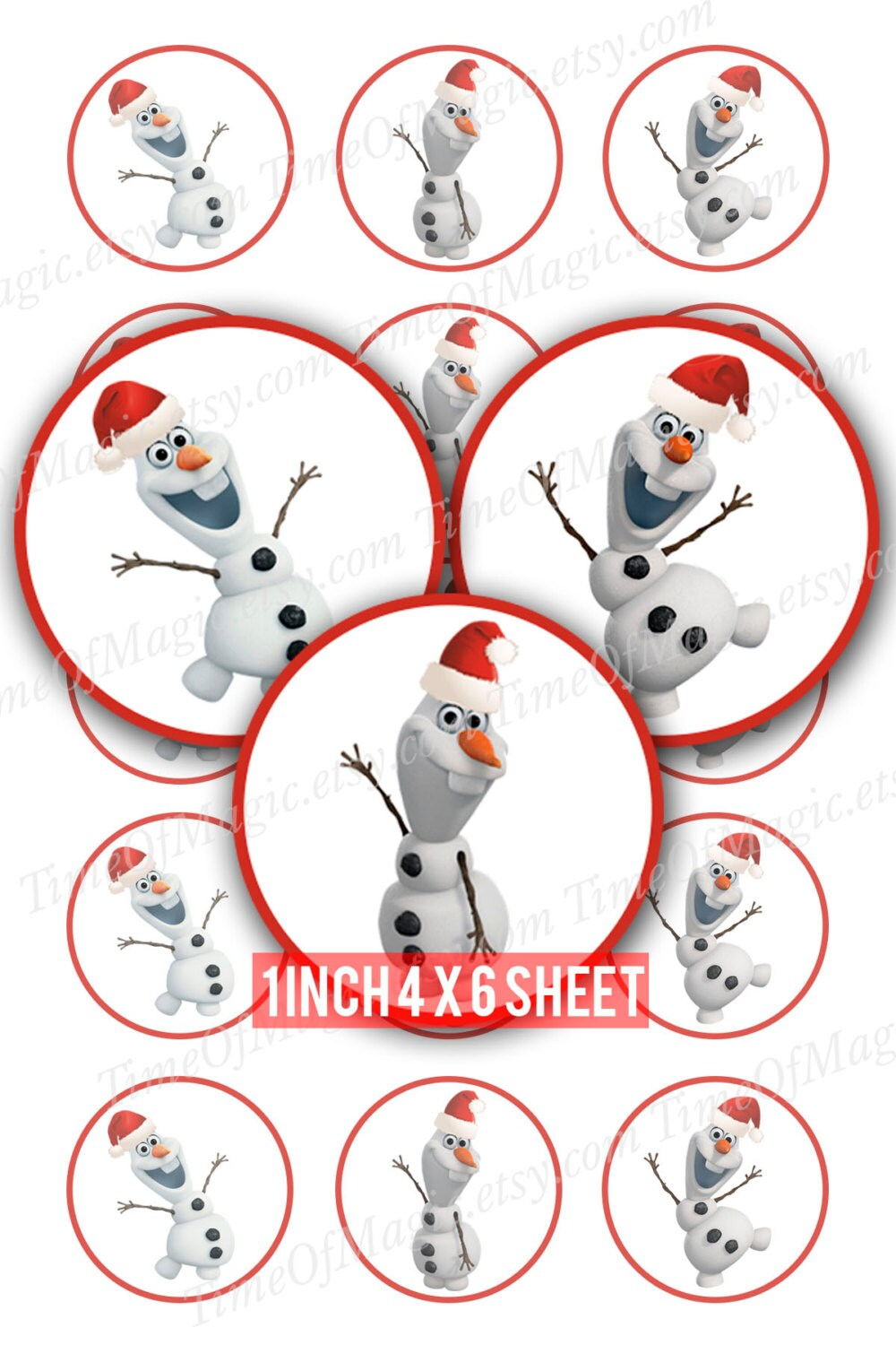 Olaf Merry Christmas Digital Collage Sheet Frozen 1 inch | Etsy