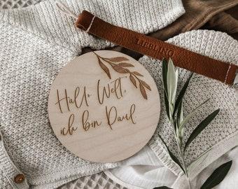 Name Namensschild Kinderzimmer Baby Geburt Holzschild Schild HDF weiß