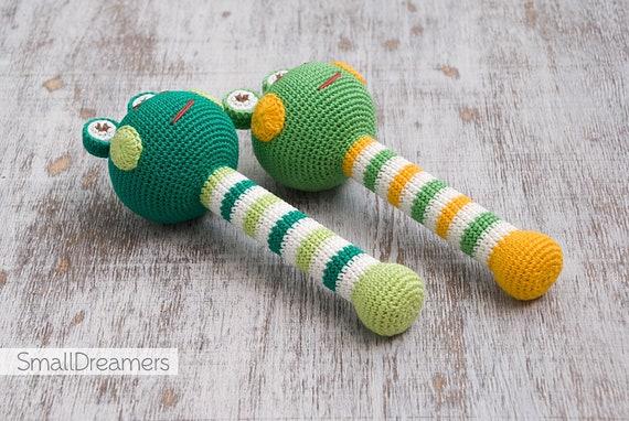 Frosch Rassel Häkeln Rassel Baby Rassel Spielzeug Spielzeug Etsy