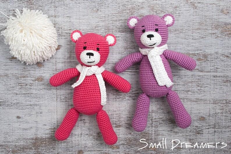 Soft Toy Pink Teddy Bear Teddy Bear Stuffed Animal Photo Prop Handmade Toy