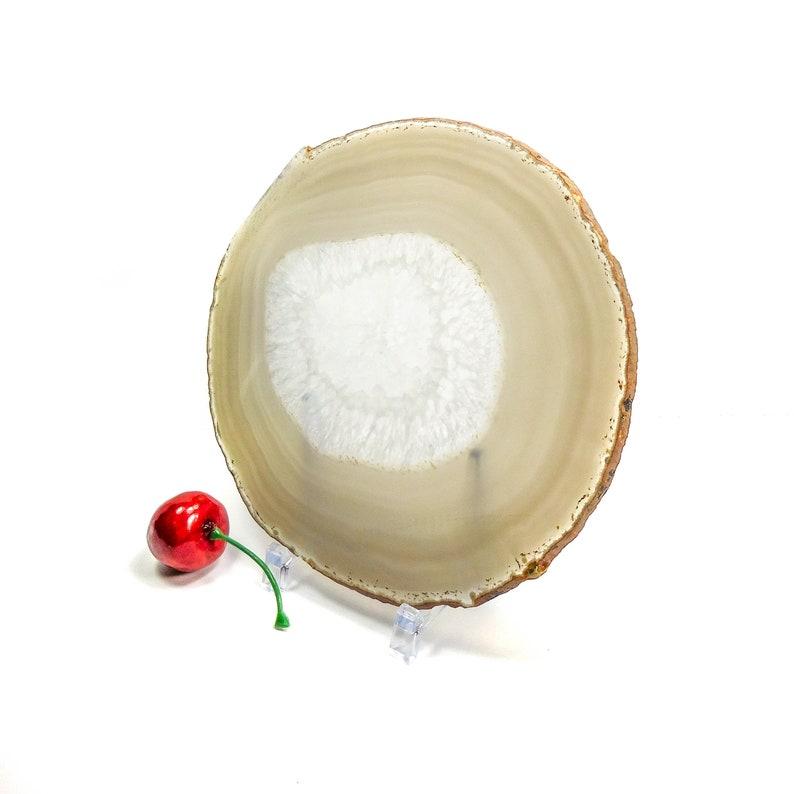 New Natural Agate Slices Geode Polished Slab Brazil Crystal Quartz Ornaments HU