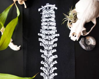 Spine Back Patch - White Ink