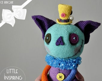 OOAK Little Inspiring Soul - creepy cute cat - artist doll and collectible handmade creepy cute - gift to offer