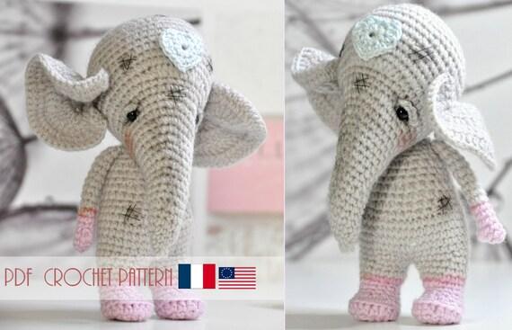 Patron gratuit Amigurumi éléphant au crochet   Éléphant en crochet ...   367x570