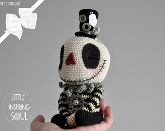 OOAK Little Inspiring Soul - gothic doll Skellington - artist doll and creepy cute collection - gift to offer