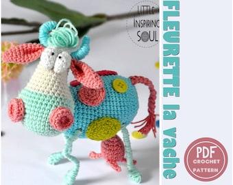 crochet cow amigurumi cow CROCHET PATTERN - crochet cow - little inspiring soul - crochet farm animals -