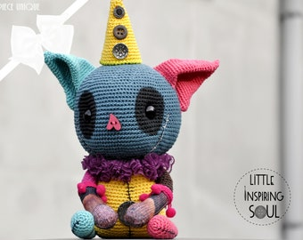 OOAK Gothic Cat Little Inspiring Soul - artist and collectible doll - handmade - cute creepy cute - to offer
