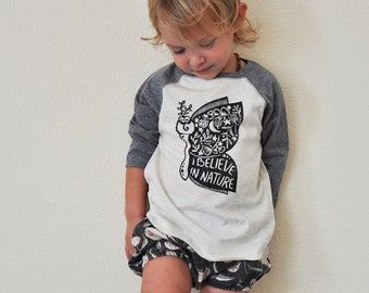 Moth shirt, Hippie child, Moon child, Yoga Top, Boho boy, Boho girl, Raglan kids tee, Nature shirt, Believe in nature, Gender neutral gift