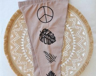 Kids Yoga Leggings, Organic Cotton pants, Toddler yoga pants, Little yogi pants, Boho Leggings, Peace pants, Pants with plants, Nature pants