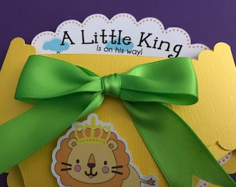Our Little King - Diaper invitation