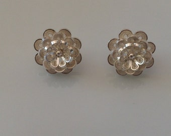 10% off code DEAL1 (limited time) Handmade Earrings Filigree Silver Sterling 950 From Colombia
