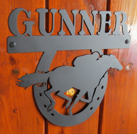 Horse Stall Nameplate,Race Horse Nameplate,Metal Sign,Metal Cut Sign,Horse Lover,Barn Sign,Metal Art,Plasma Cut Sign,Farm Sign
