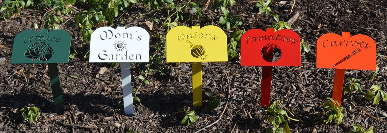 Superb Metal Garden Marker,Garden Stake,Plasma Cut Metal Art,Garden Row Marker, Garden Accents,Vegetable Marker,Custom Garden Markers,Personalized