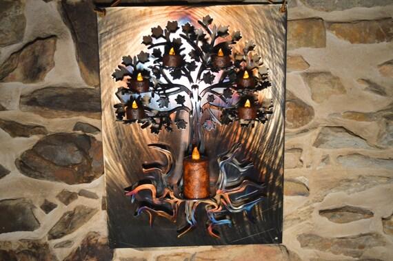 3D Tree of Life Metal Wall Art