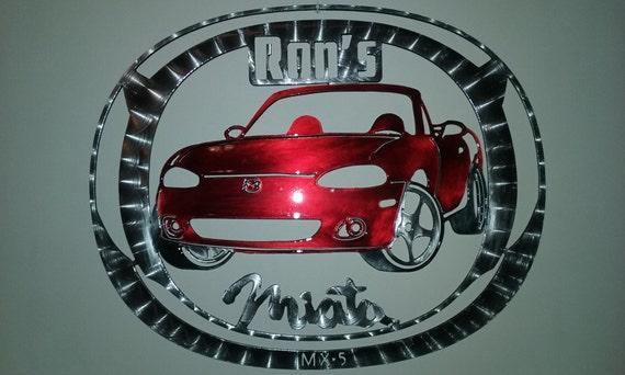 Mazda Miata MX-5 Wall Art, Custom Automotive, Sports Car, Auto Enthusiast, Garage Art, Man Cave Art, Muscle Car, Personalized, Auto Racing
