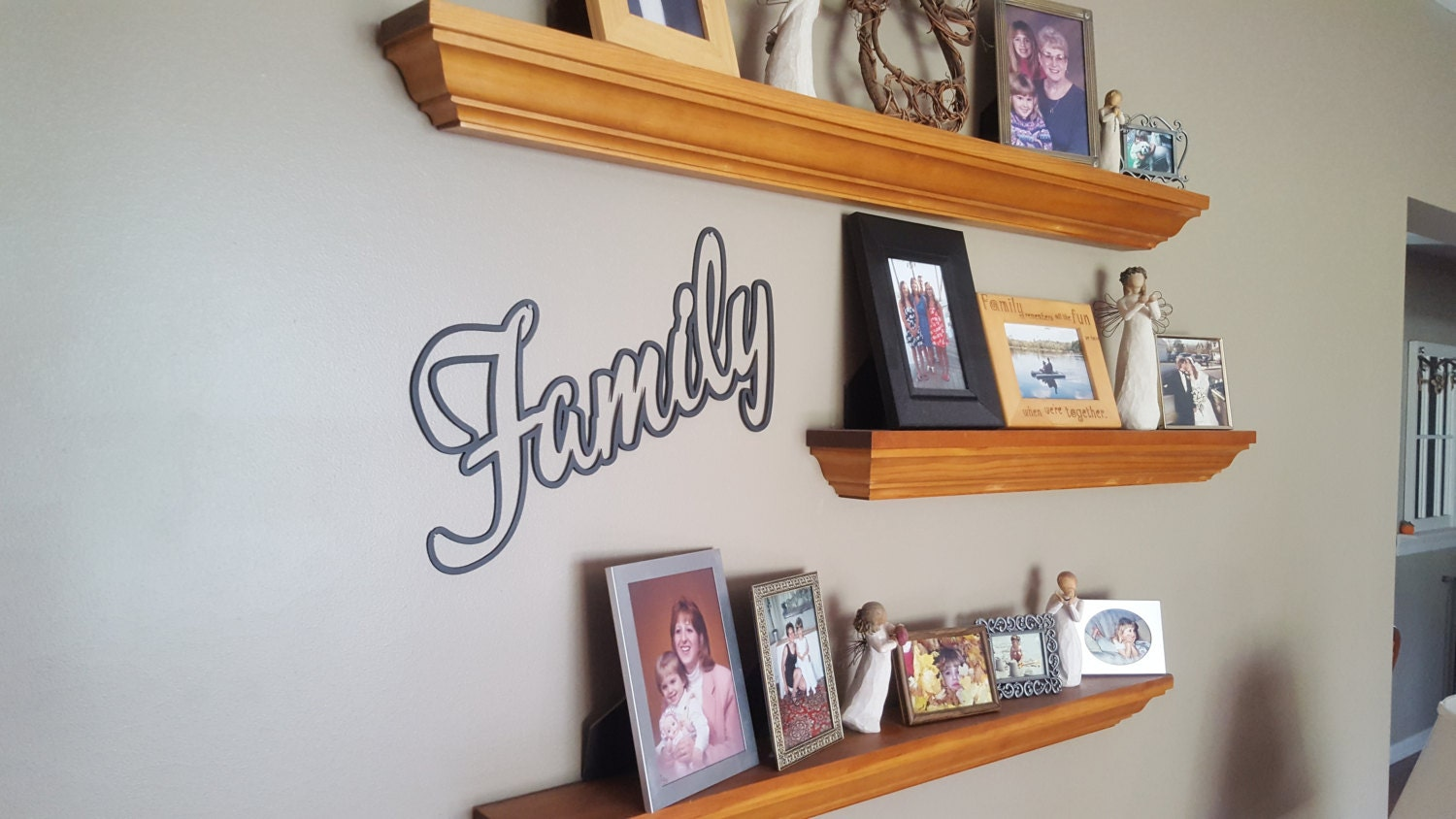 Family Word Stencil Art Metal Wall Plasma Cut Home