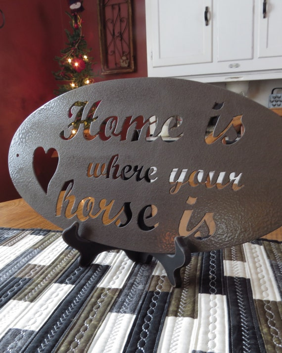 Metal Cut Sign,Horse Lover Gifts,Home Decor,Wall Decor,Wall Art,Horse art,Barn Art,Horse decor,CNC Plasma cut sign,Farm Art,HouseWarmingGift
