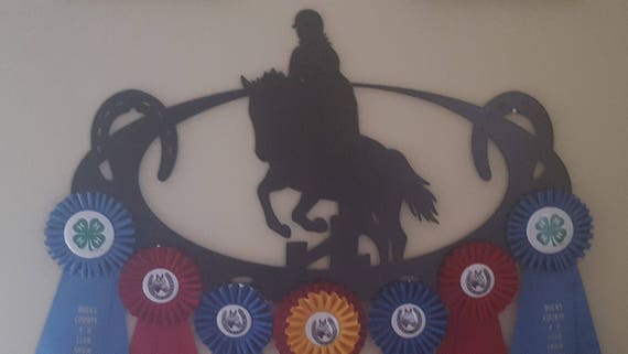 Horse Show Award Ribbon Display,Custom Ribbon Display,Horse Show Awards,Metal Sign,Metal Cut Sign,Horse Lover,Metal Art,Plasma Cut Sign