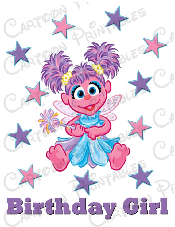 Abby Cadabby Birthday Girl Image Use As Printable Clip Art Iron On Sesame Street Scrapbooking Shirt T Shirt Download Diy
