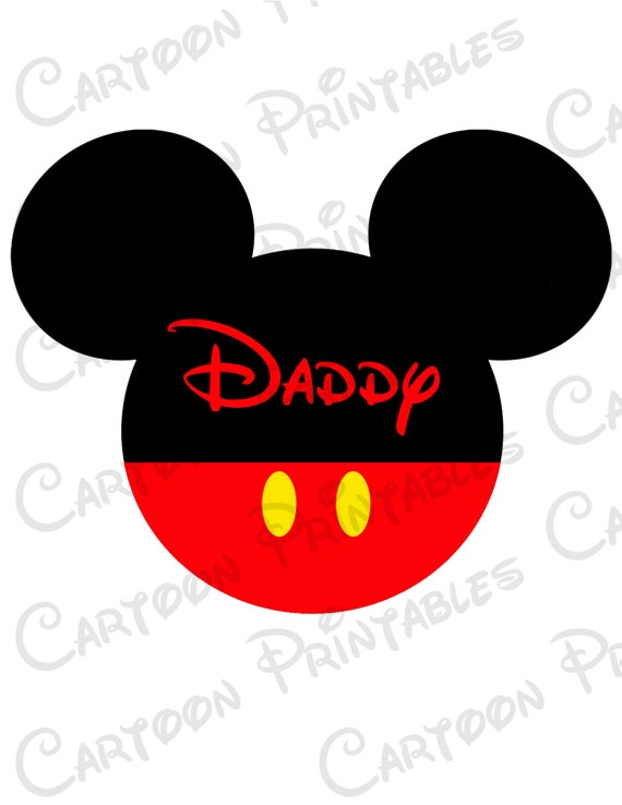 mickey mouse daddy image mouse ears printable clip art iron on rh etsystudio com