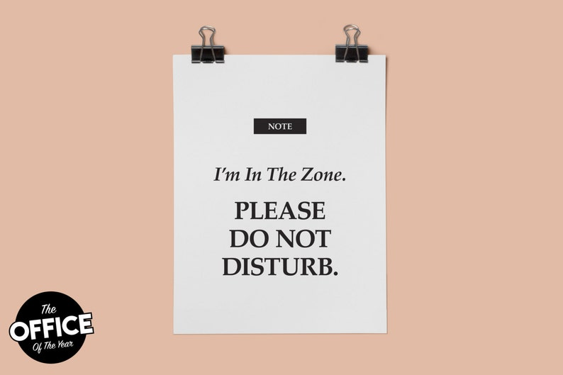 photograph about Printable Do Not Disturb Signs named Im In just The Zone. Be sure to Do Not Disturb - Printable Office environment Indicator, Letter Dimension, Portrait, Landscape, 8.5 x 11 - 008