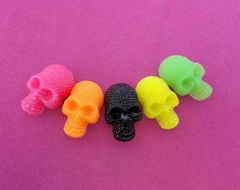 Skull croc shoe charm-five colors to choose from