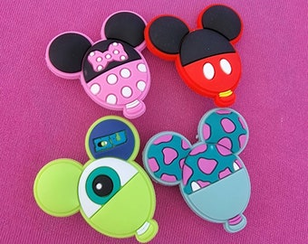 Disney inspired croc charms-set of four, two different sets to choose from