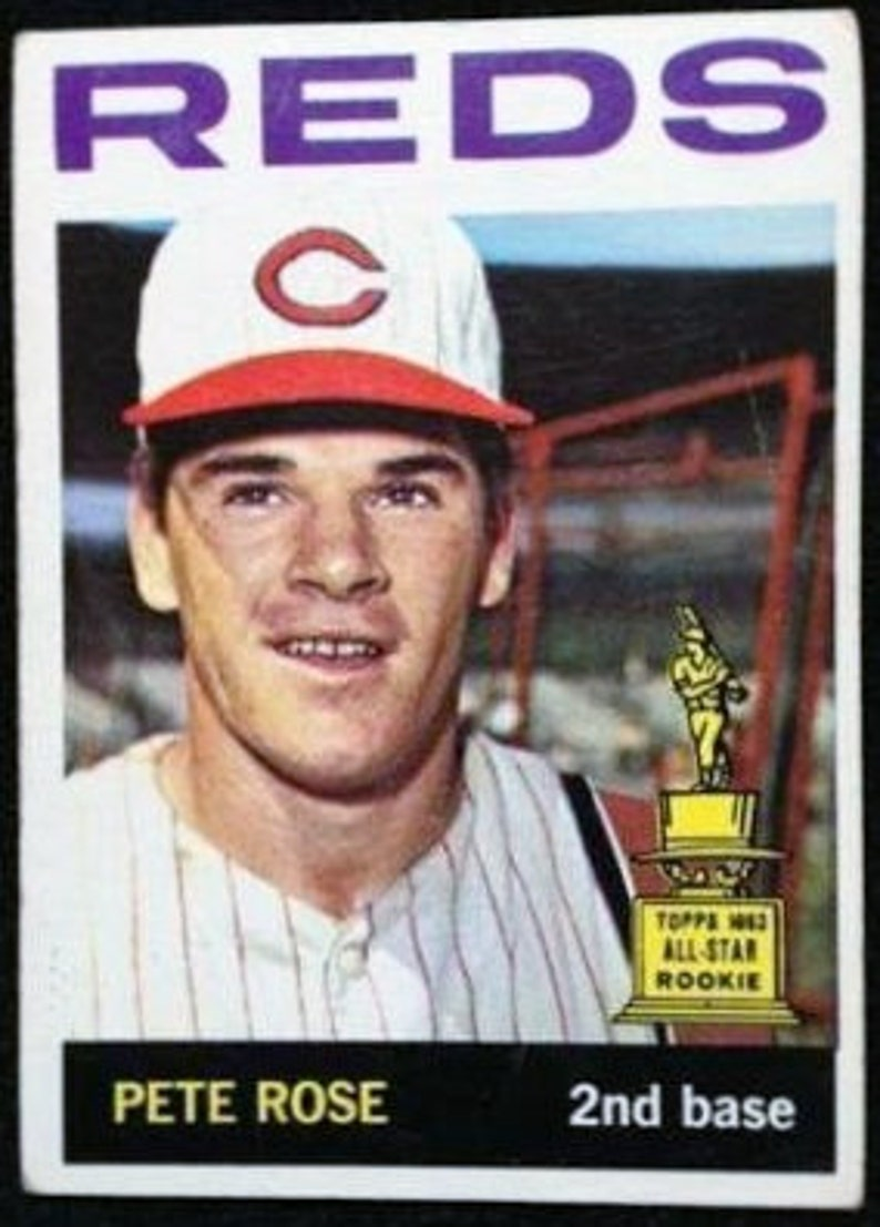 1964 Topps Pete Rose Cincinatti Reds All Star Rookie Card