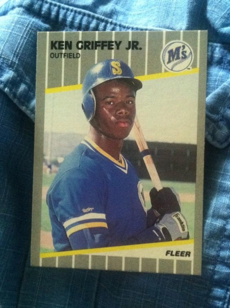 Ken Griffey Jr Fleer 1989 Rookie Baseball Card 548