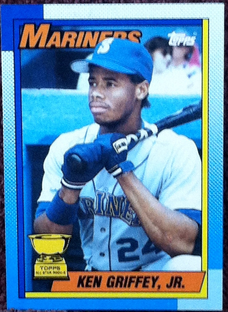 Ken Griffey Jr 1990 Topps All Star Rookie 336 Mariners