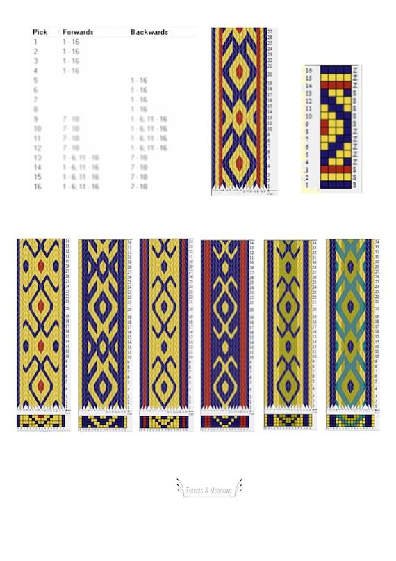 Tablet Weaving Patterns Viking Trim Pattern Viking Belt Etsy Magnificent Viking Patterns