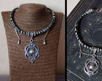 Muladhara chakra festival gypsy ethnic choker necklace