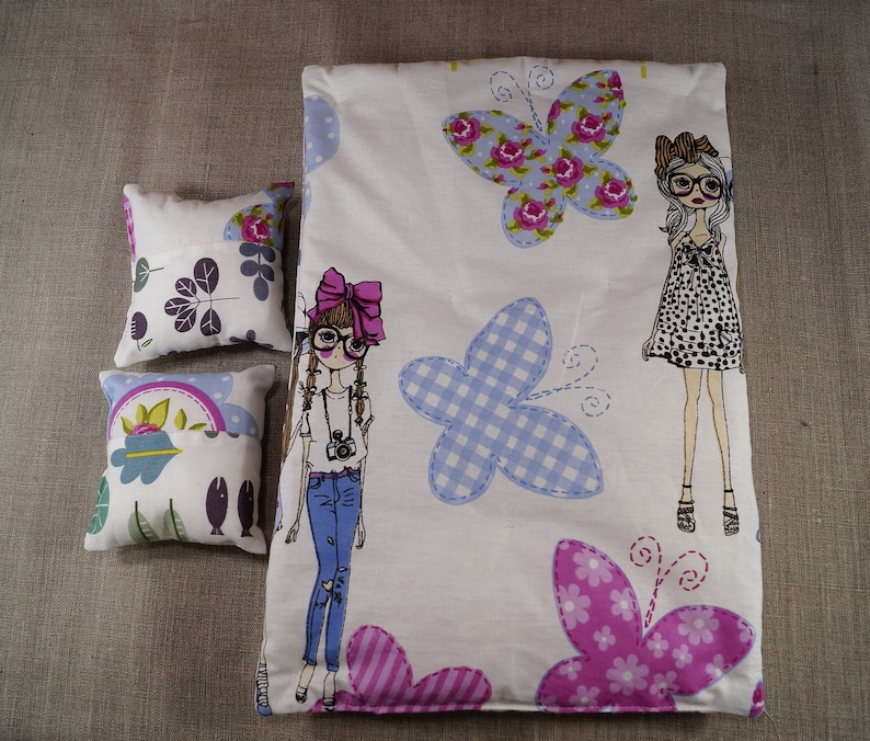 Unicorn Doll Bedding Doll Bedding 12 in Doll Bedding Mattress 12 Doll Bedding Barbie Doll Bedding 12 inch Doll Bedding