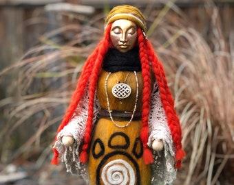 Medicine Doll, Needle Felted, Handmade, Shamanic Art Doll, Healing Art Doll, Spirit Doll, Energy Doll, Goddess Doll