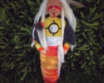 Medicine Doll, Handmade, Needle Felted
