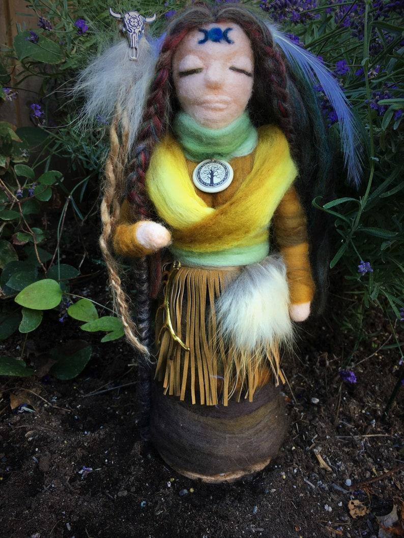 Medicine Doll, Healing Doll, Spirit Doll, Healing, Shaman, Celtic, Sacred,  Pagan, Altar, Druid, Needle Felt Doll